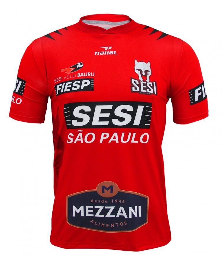 db970d654b Camisa Vôlei SESI Bauru Masculino Vermelho 2018